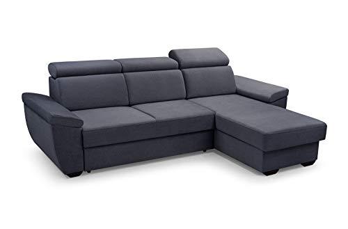MOEBLO Sofa mit Schlaffunktion und Bettkasten...