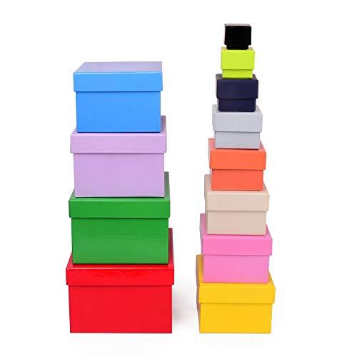 ewtshop® Geschenkboxen, 12, 12er Set, stabil...