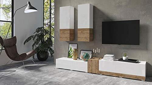 Moebelaktionsshop24 WOHNWAND 5-TLG Wohnzimmer...