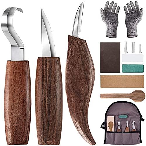 Holz-Schnitzwerkzeug Set, 10 Teiliges Holz Sc...