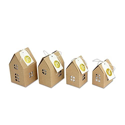 Adventskalender Häuser zum Basteln und Befü...