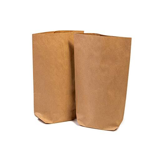 25 x Papiertüten Braun klein (16,5 x 26 x 6 ...