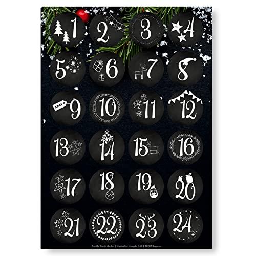 Adventskalender Aufkleber (Zahlen 1-24) - Sti...