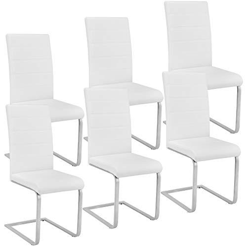 TecTake 6 Esszimmerstühle Schwingstuhl Set, ...
