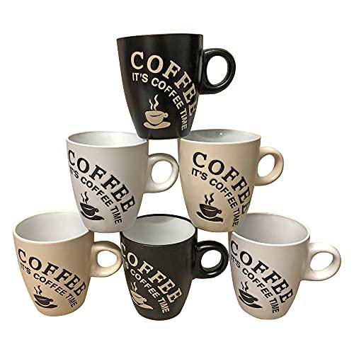 6 Stück Kaffeebecher Coffee Tassen 150 ml au...