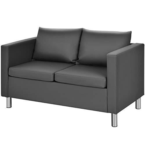 COSTWAY 2 Sitzer Sofa mit Kissen, Sofagarnitu...